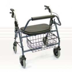 CareQuip Folding Heavy Duty Walker Colour Red