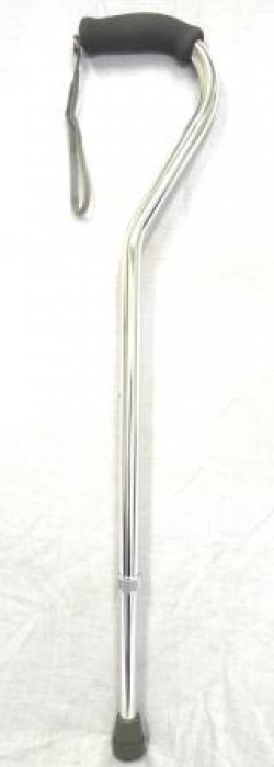 CareQuip Straight Handle Walking Stick Colour Silver