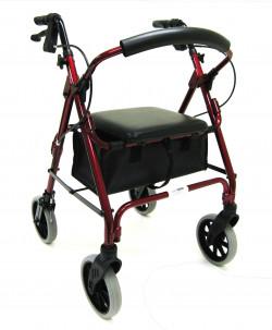 red walker with vinyl under seat bag
