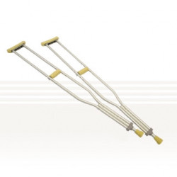 Aluminium Underarm Crutches - Youth, Medium , Large