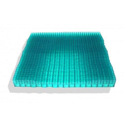 Equagel cushion with out cover showing the green gel grid pattern