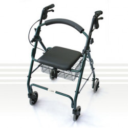 CareQuip Folding Walker Colour Purple