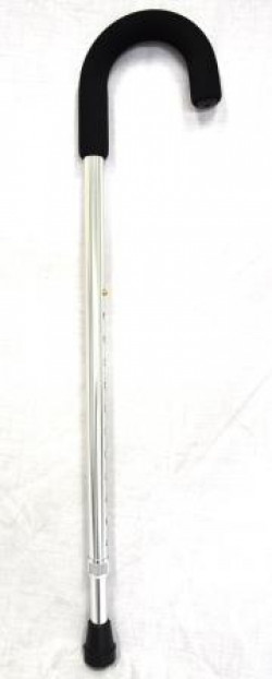 CareQuip Crook Handle Walking Stick Colour Silver