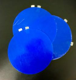 Dycem Non-Slip Grippimat Round Blue - 3 Pack
