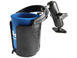 "RAM 1"" Ball Mount with Diamond Base, Level Cup™ Drink Holder & Koozie"